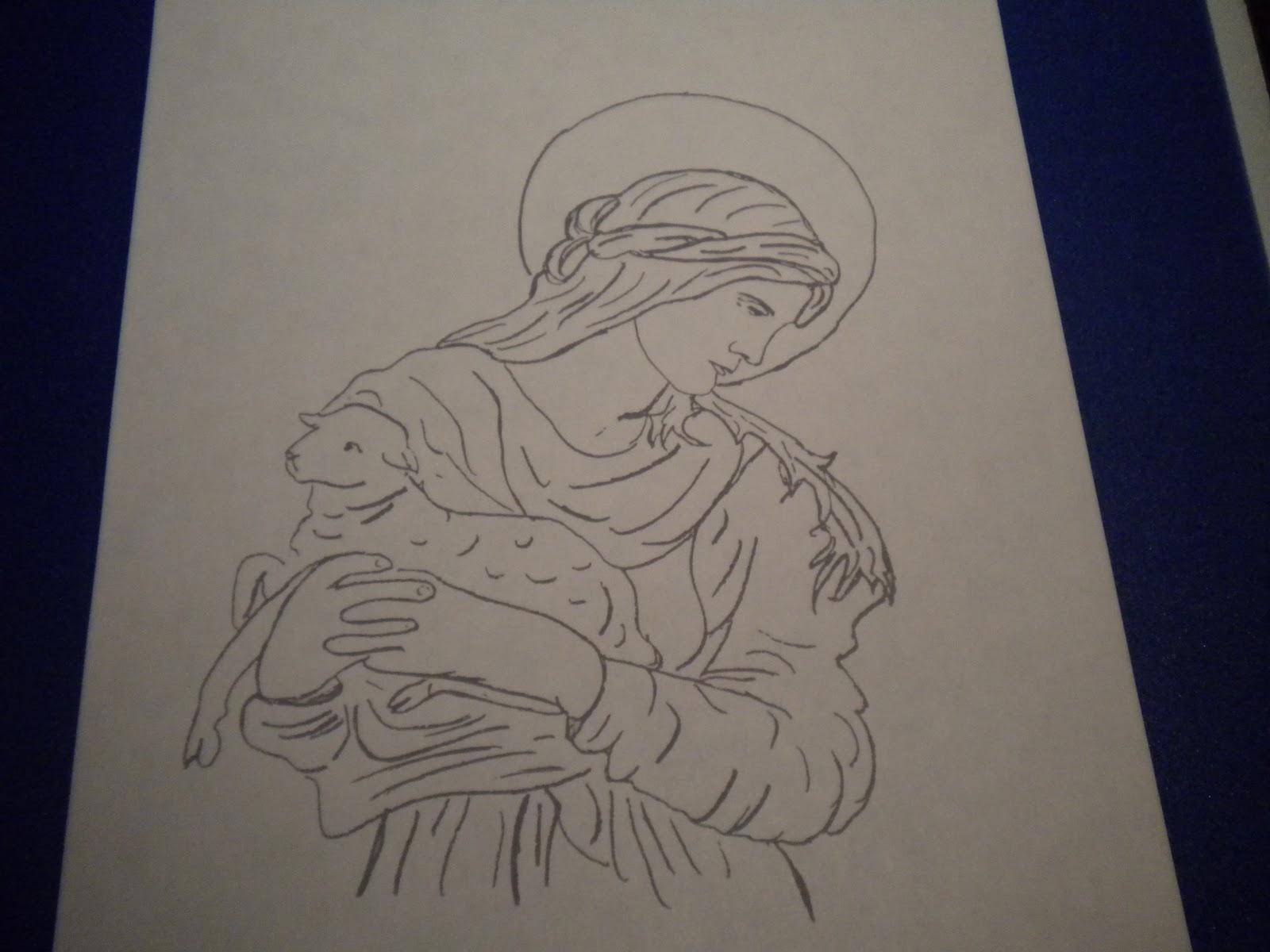 Familia Católica: Páginas para Colorear de \