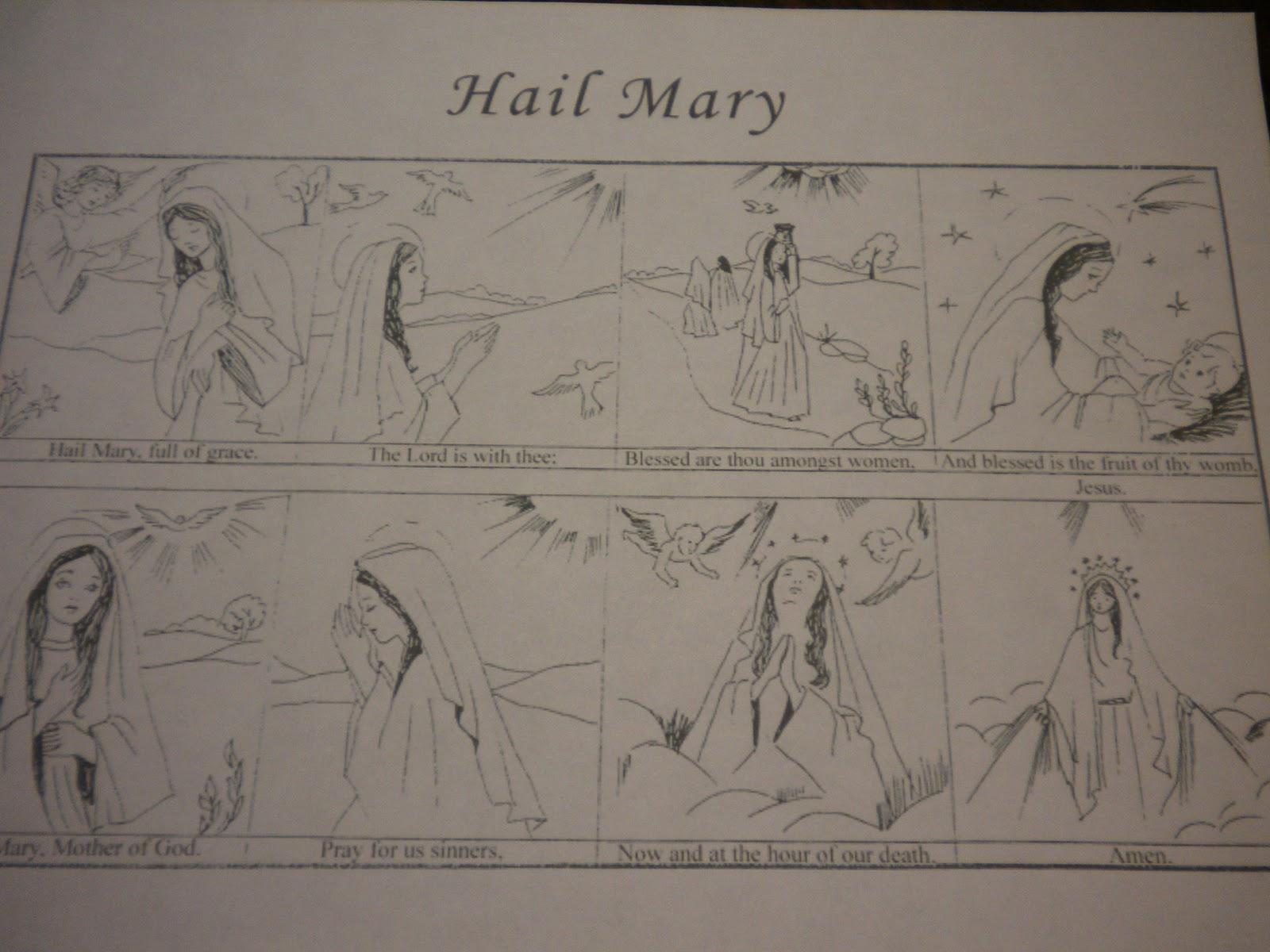 El Ave Maria En Ingles Para Imprimir