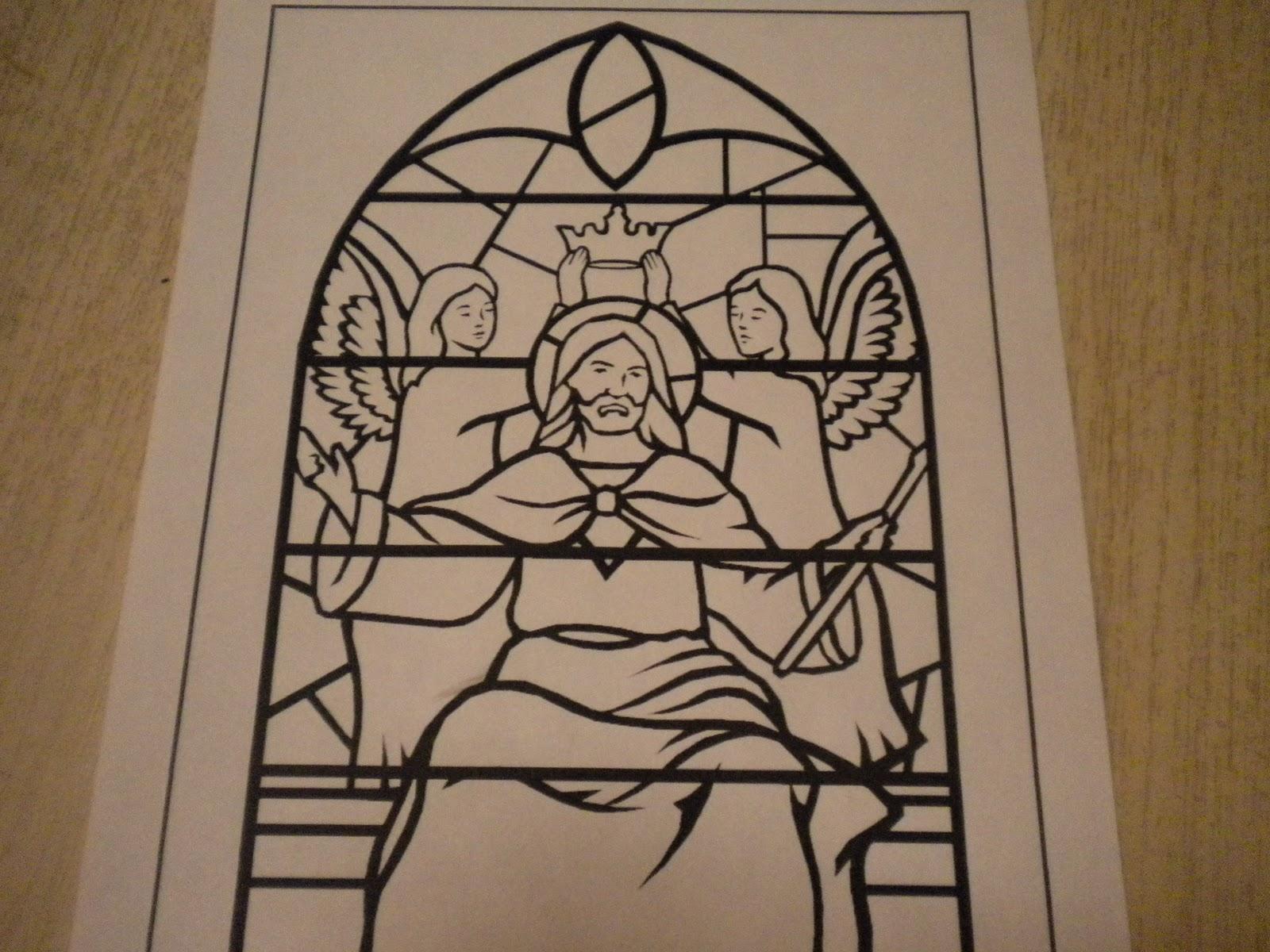 Familia Católica: Páginas para Colorear de Cristo Rey