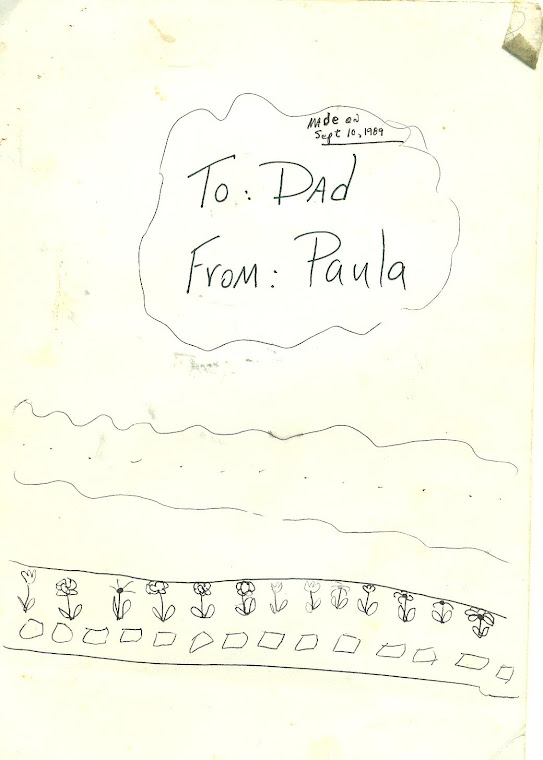 PART I OF A FOUR PART CARD--made Sept 10, 1989 for me by Paula