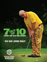 John Daly with Heavy Putter
