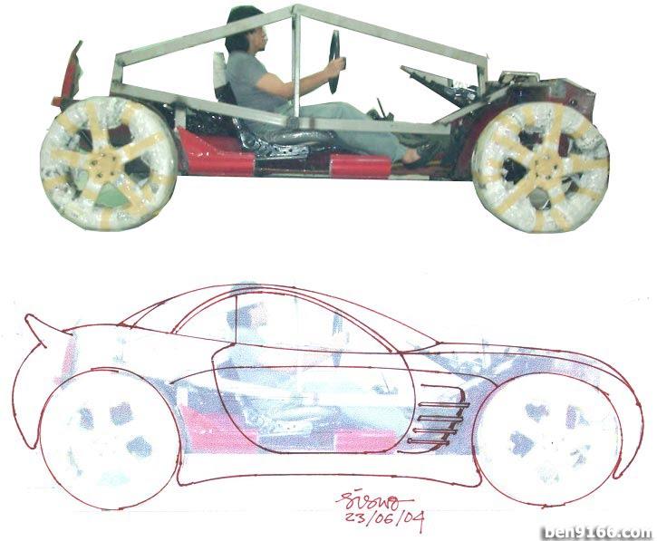 Perodua Kancil/ Daihatsu Mira extreme bodykit