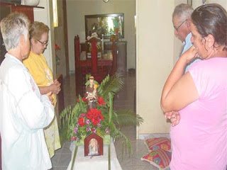Fé, exencial para o expirito.  Pilões acolhe imagem de Santo Antonio, continuidade das tradições.