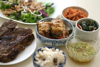 Traditional Full Korean Breakfast