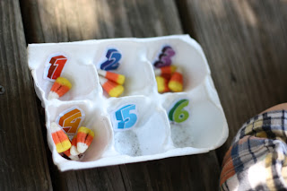 Candy Corn Sensory Tub