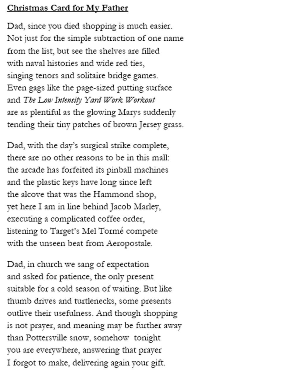 cosmic liverwurst the christmas poem 2010