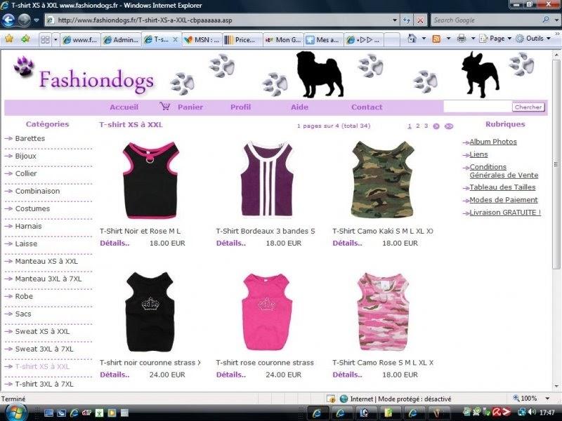 Vêtements et accessoires pour chiens--GROSSISTE ANIMALERIE