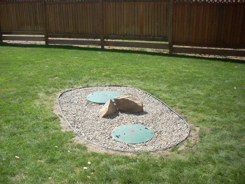 garden ideas to hide septic tank