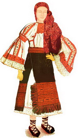 Costum tradiţional fată Zona Huedinului