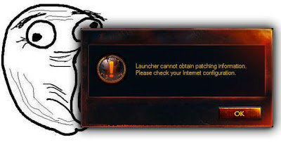 launcher cannot obtain patching information wow