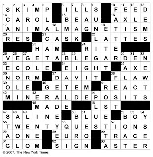 cask section crossword clue