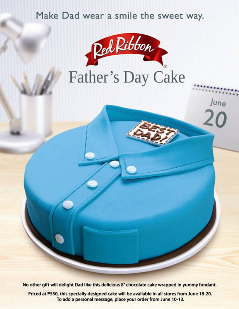 Red Ribbons Special Fathers Day Cake Foodivities