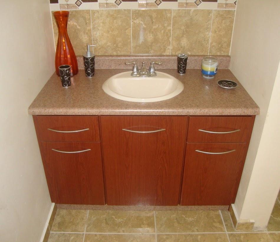 Gabinete Para Baño Madera:Ebanistería Cintrón: Gabinete en Madera con Tope en Corian