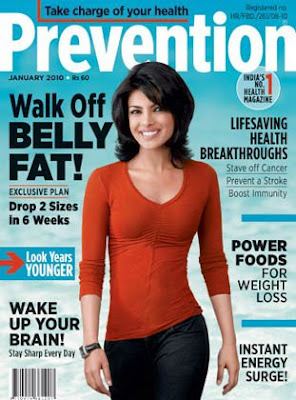 Priyanka Chopra Sizzles on Prevention Magazine