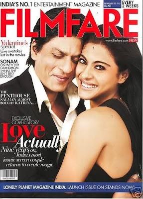 Kajol & Shah Rukh Khan February Filmfare Scans