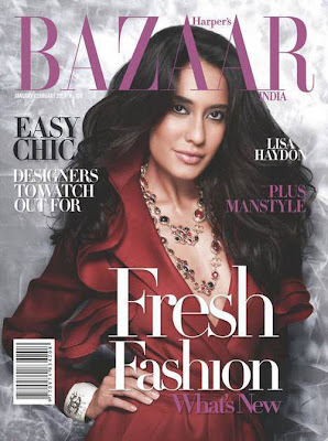 Lisa Haydon – Harper's Bazaar India (January-February 2010)