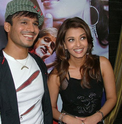 Vivek Oberoi and Aishwarya Rai