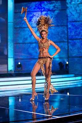 Miss Universe 2009 Contestants Pre-tape intros in National Costumes