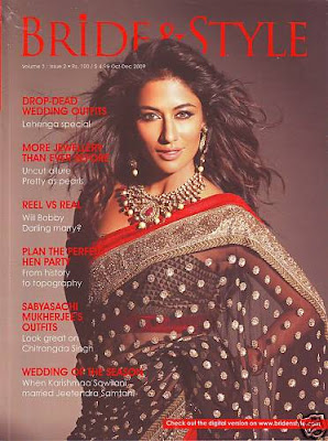 Chitrangada Singh on Cover of Bride & style