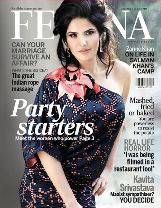 Zarine Khan  Femina Magazine December 2010,Zarine Khan hot,Zarine Khan bikini