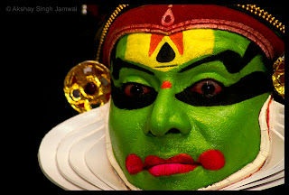 Indian Classical Male Dancer Face Paint