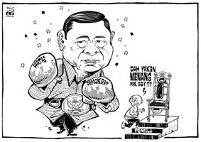karikatur politik, SBY yakin menangkan Pemilu 2009