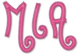 Trucks and tutus boutique applique alphabet and number choices