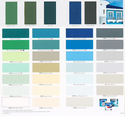 Dulux Paints Shade Card
