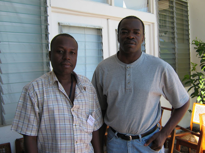 Cyrus SIBERT de RESEAU CITADELLE et Jean Claude LOUIS de ''The Panos Institute of the Caribbean''