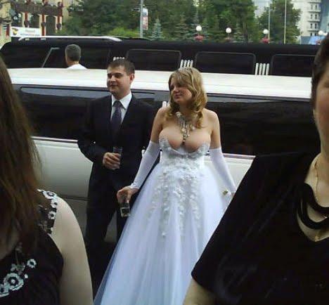 Girl has sex in wedding dress