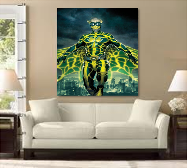 WTFman in your living room  All of these need to pull some color elsewhere  to rock. braxton and yancey  Comic Book Art Rocks Home Decor