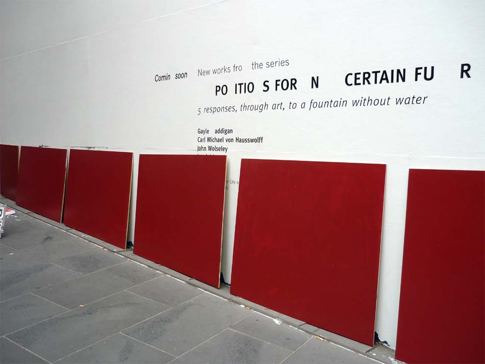 Red Fragments ~ Propositions for an Uncertain Future - Melbourne City Square: Photo Julie Clarke 2010