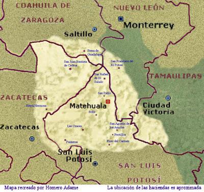 Otras Haciendas del Altiplano, segunda parte y como llegar a ellas. Mapa+con+haciendas+del+Altiplano+Parte+1+b