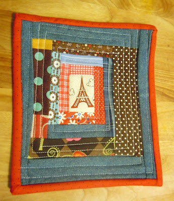 Eiffel Tower  Small Pictures on Growing Notes  Wonky Eiffel Tower Log Cabin