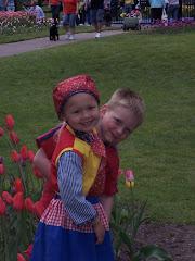 Logan at the Tulip Festival