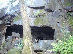 Rajmachi caves near Kalbhairav temple.