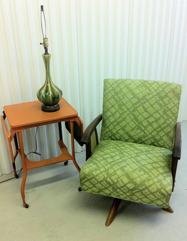 Beau Mid Century Modern Rocker/Swivel Chair