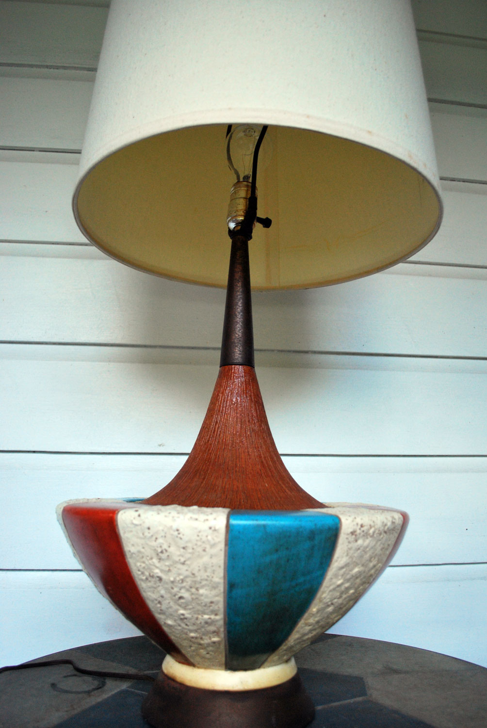 junk2funk: Mid-Century Modern Pottery Fortune Lamp Company