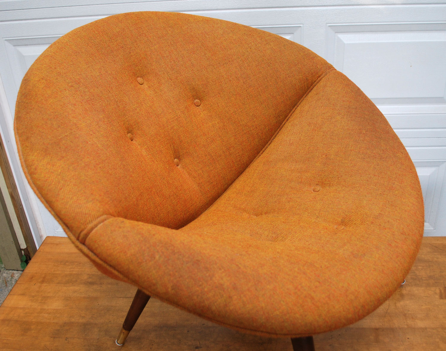 Awesome Vintage Orange Saucer Chair