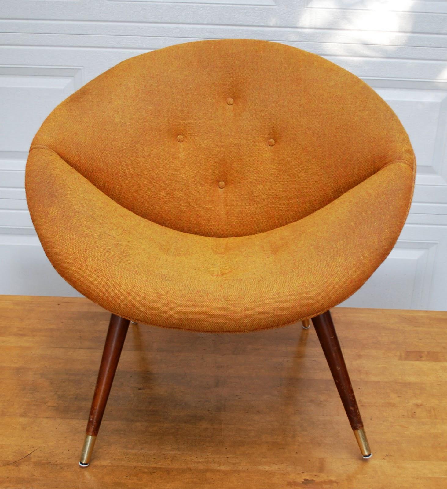 Vintage Orange Saucer Chair