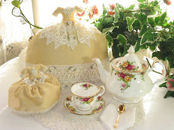 Victorian Dress Tea Cozy and Tea Cup Cover