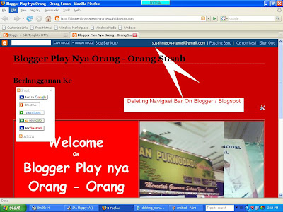 navigation bar blogspot