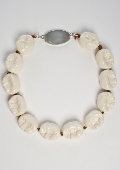 Ceramic Tooth Fairy Series, Untitled Necklace