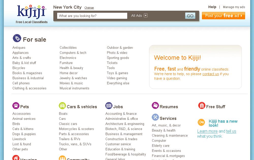 News: Kijiji.com unveils new look | You Suck at Kijiji: Funniest ...