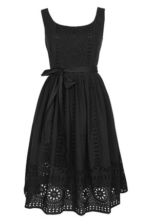 helena eyelet dress in black from delias