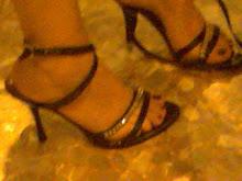 mis sandalias usadas de noche, 10cmts con pedreria