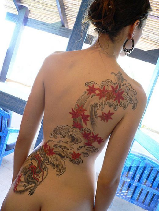 Girls Back Sexy Tattoos