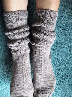 Slouch Socks Knitting Pattern : From the Back Yard: Slouch Boot Socks