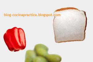 Algunos ingredientes del Plato de Entrada fácil: Canapés pinto lactal.