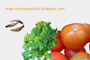 Algunos ingredientes de la receta de cocina fresca de tomates en mozzarella.